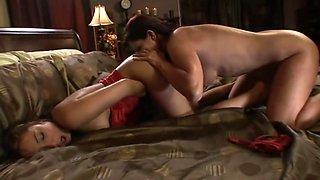 Mature woman seduces a small asian girl.