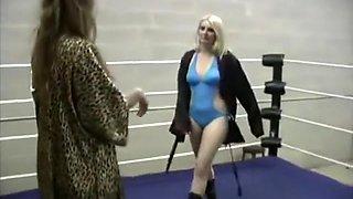Sophie vs Alex and Ariel vs Jenn erotic Wrestling