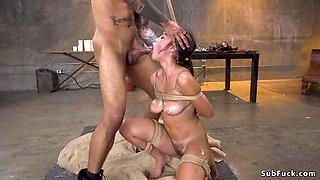 Black master brutal anal bangs Asian sub