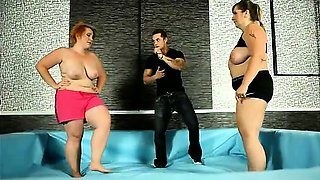 Fat nude women wrestling and then fucking a referee
