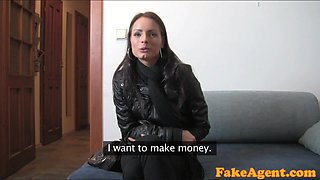 FakeAgent HD: Shy student has silk vagina