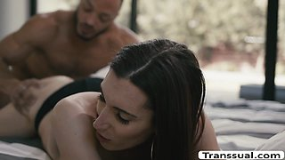 Horny Tbabe gets her ass licked and fucked by her black boyfriend