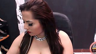 Boobalicious MILF smoking a cigarette while webcamming with me
