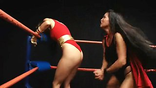 Rockyriver wrestling superheroines