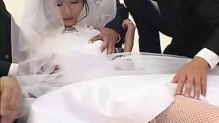 Kinky Japanese bride is the gift of both her husband and his