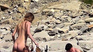 Nude Beach Amateur Couple Voyeur Outdoor Video