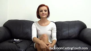 Gorgeous redhead cutie gets screwed and a receives a hot facial
