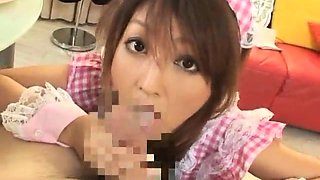 Slender Oriental cutie is addicted to hard meat and hot jizz