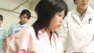 Japan milf doctor uses dildo with camera for oral exam