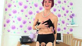 UK milfs Red and Penny are Britain's naughtiest secretaries