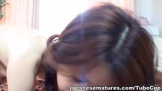 Japanese mama gets hot mature sex