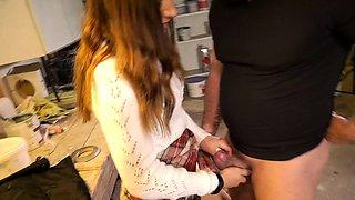 German Virgin Teen Seduce old Neigbour to Defloration Sex