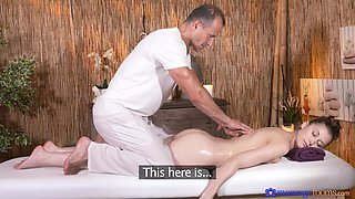 Smooth fucking on the massage bed with nice tits Meggie Loki