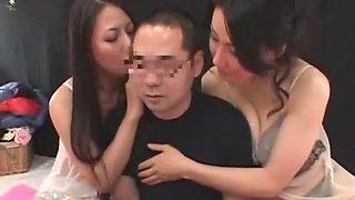 Horny Japanese whore Maki Hojo, Aya Asakura, Misa Arisawa in Hottest Femdom, 69 JAV video