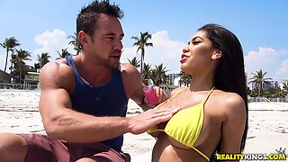 Handsome hunk is in need of stunning beauty Shay Evans' hole
