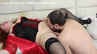 Pussy of a sexy girl was licked to a violent orgasm