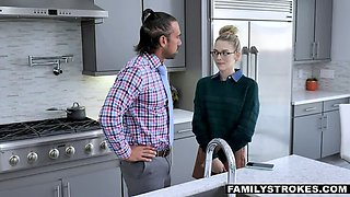 FAMILYSTROKES Dirty Talking Lily needs to taste Stepdad!