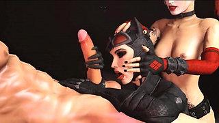 Harley Quinn 3D sex compilation (Batman)