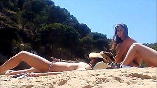 Nude beach on island